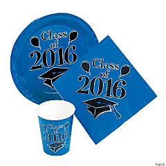 Class of 2016 Blue Tableware Set