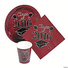 Class of 2016 Burgundy Tableware Set