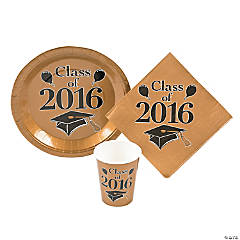 Class of 2016 Gold Tableware Set