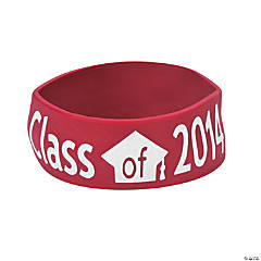 Class of 2014 Graduation Burgundy Big Band Bracelets