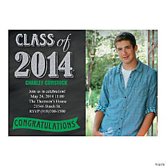Class of 2014 Graduation Single Image Custom Photo Invitations