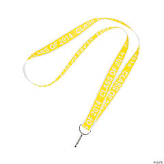 Class of 2014 Graduation Yellow Lanyards