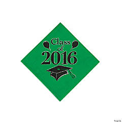 Class of 2016 Green Beverage Napkins