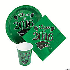 Class of 2016 Green Tableware Set