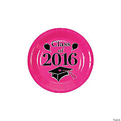 Class of 2016 Hot Pink Dessert Plates