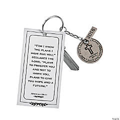 Class of 2016 Jeremiah 29:11 Key Chains with Card