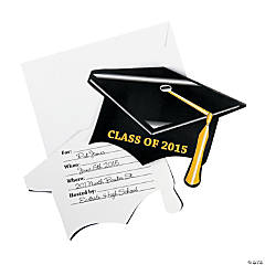 Class of 2015 Mortarboard Graduation Invitations