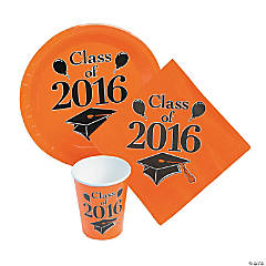 Class of 2016 Orange Tableware Set