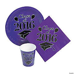 Class of 2016 Purple Tableware Set