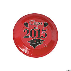 Class of 2015 Red Dessert Plates