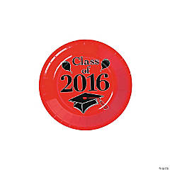 Class of 2016 Red Dessert Plates
