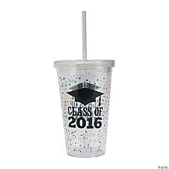 Class of 2016 Tumbler with Straw