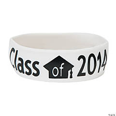 Class of 2014  White Big Band Bracelets
