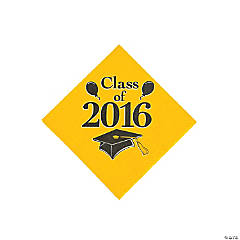 Class of 2016 Yellow Beverage Napkins