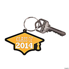 Class of 2014 Yellow Graduation Key Chains