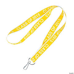 Class of 2015 Yellow Lanyards