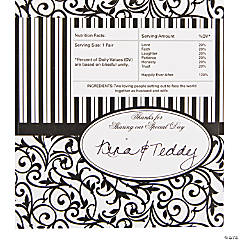 Classic Black & White Hershey Bar Stickers