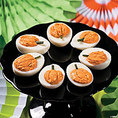 Classic Halloween Pumpkin Deviled Eggs Recipe Idea
