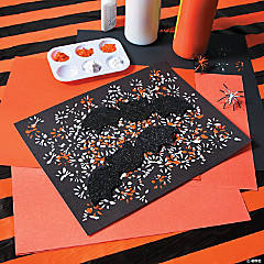 Classic Halloween Spider Painting Craft Idea