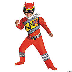 Classic Red Ranger Dino Muscle Costume for Toddler Boys