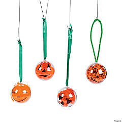 Clear Ornament Jack o Lanterns Idea