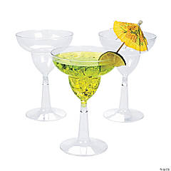 Clear Plastic Margarita Glasses