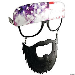 Clear Sun-Stache Glasses with Black Beard