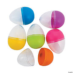 Clear Top Bright Plastic Easter Eggs