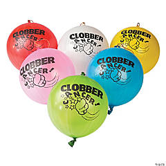 Clobber Cancer Punch Ball Balloon Assortment