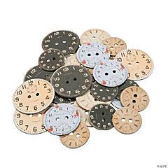 Clock Cardboard Buttons