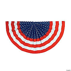 Cloth Patriotic Flag Flocked Bunting