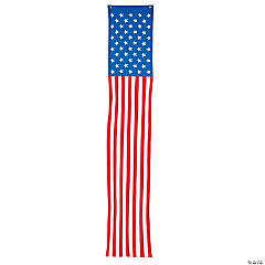 Cloth Traditional Patriotic Pillar Bunting