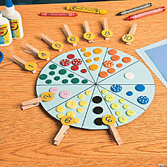 Clothespin Counting Wheel Idea