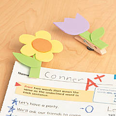 Clothespin Flower Magnet Idea