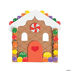 Clothespin Gingerbread House Magnet Craft Kit