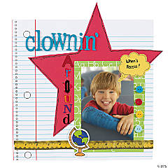Clownin' Around Scrapbook Page Idea