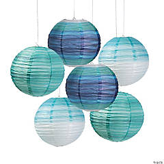 Coastal Seaside Hanging Paper Lanterns