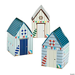 Coastal Seaside House Favor Boxes