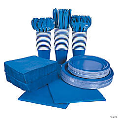 Cobalt Blue Tableware Party Pack for 48