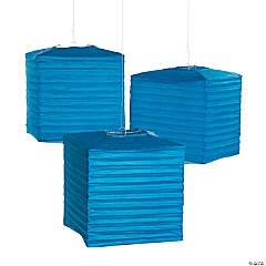 Cobalt Square Hanging Paper Lanterns