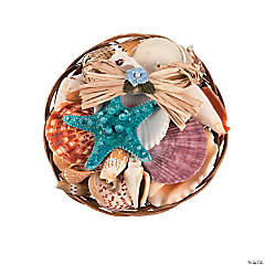 Coco Midrib Basket Sea Shell Mix - 6""