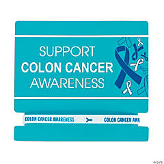Colon Cancer Awareness Rubber Bracelets on Card