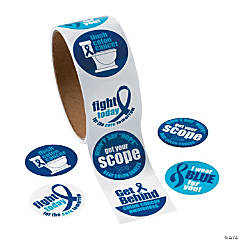 Colon Cancer Awareness Sticker Rolls