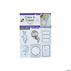 Color and Create: Adult Coloring Tags Stack