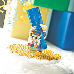 Color Brick Jar Party Favor Idea with Free Printable Tag