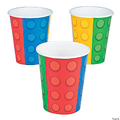 Color Brick Paper Cups