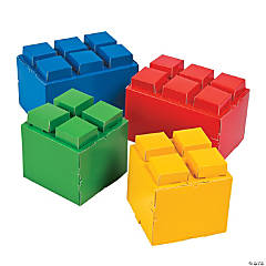 Color Brick Party Centerpieces