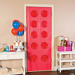 Color Brick Party Door Idea