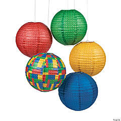 Color Brick Party Paper Lanterns