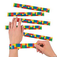 Color Brick Party Slap Bracelets